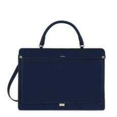 Kožená kabelka Furla Like Top Handle blu