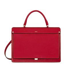 Kožená kabelka Furla Like Top Handle ruby