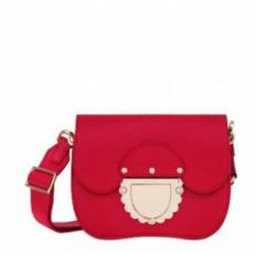 Kožená kabelka Furla Ducale Mini Crossbody ruby