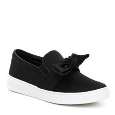 Boty Michael Kors Willa Satin Slip-On Sneaker černé