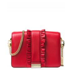 Kabelka Michael Kors Jade Leather Clutch bright red