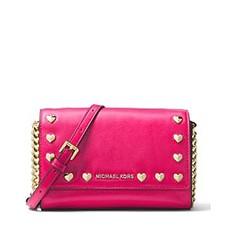 Kabelka Michael Kors Heart Medium Clutch ultra pink
