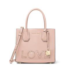 Kabelka Michael Kors Mercer Medium Love Crossbody soft pink