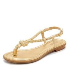 Kožené sandálky Michael Kors Holly zlaté